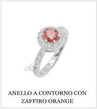 ANELLO A CONTORNO CON ZAFFIRO ORANGE